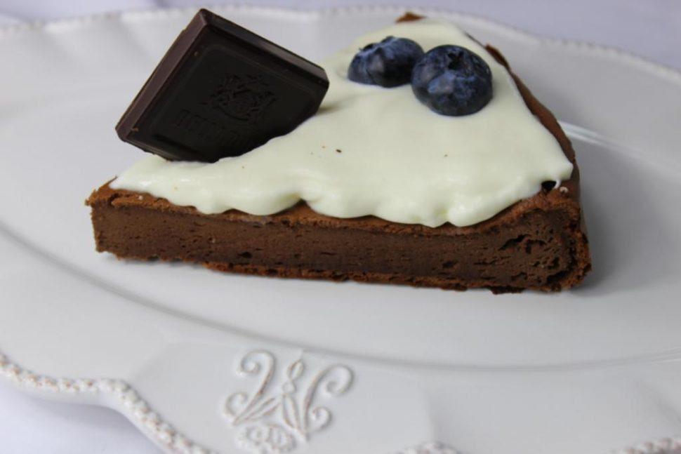 tvarohový koláč s čokoládou
