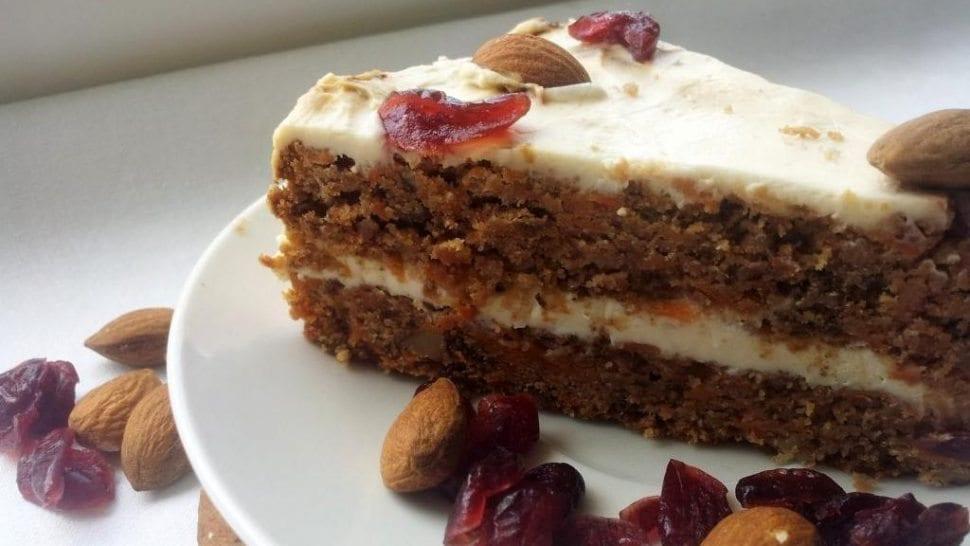 bezlepková mrkvová torta s mascarpone