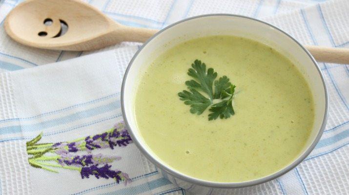 cuketová kremova polievka recept
