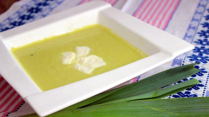pórová krémová polievka